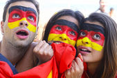 German soccer fans astonished — Foto de Stock