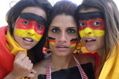 Group of happy german soccer fans — Foto de Stock