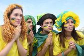 Brazilian soccer fans — 图库照片