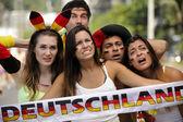 Deutscher Sport-Fußball-fans — Stockfoto