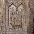 Detail of the door of Leon cathedral, Spain  — Stock Photo