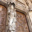 White Virgin on the Door of the Judgement in Leon. — Stok fotoğraf