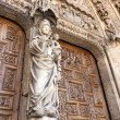 White Virgin on the Door of the Judgement in Leon. — Стоковая фотография
