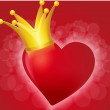 Bright heart in the crown — Stock Vector