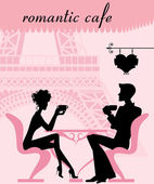Romantic cafe — Stock Vector