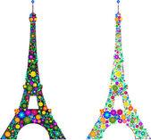 La tour eiffel aux couleurs — Vecteur