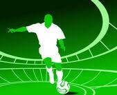 A man playing football match — Stock Vector