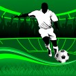 Game of football — Stockvector #18854797
