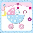 Baby frame - Stock Vector