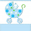 Baby in a stroller - Stock Vector