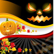 Royalty-Free Stock Vector Image: Background for Halloween, pumpkin