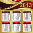 New Year Calendar 2013 — Stock Vector