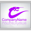 Company name logo purple - Grafika wektorowa