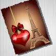 Royalty-Free Stock Vector Image: Card with the Eiffel Tower