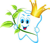 Zdravý zub v koruně — Stock vektor