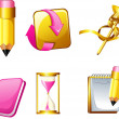 education icons — Stock Vector #27613695