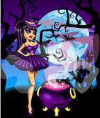 Halloween Witch — Stock Vector