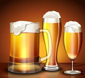 Set of glasses for beer — Stock Vector