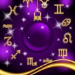 New Year horoscope, zodiac signs — Stock Vector