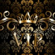 VIP on vintage wallpaper — Stock Vector #35090273