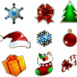 Christmas icons set.  — Vettoriali Stock