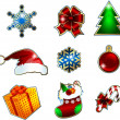 Christmas icons set.  — Stock Vector