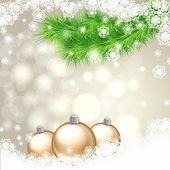 Heldere kaart met kerstboom — Stockvector