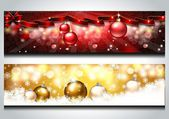 Bright New Year banners — Stock Vector