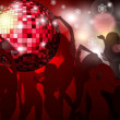 Stock Vector: Disco ball background