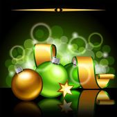 Christmas green background — Stockvector