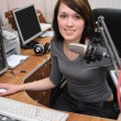 In radio studio — Stock Photo #2543635