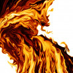 Stream of fire — Stock Photo