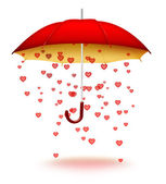 Umbrella with hearts — Stock Photo