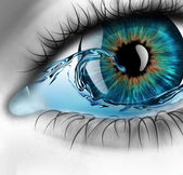Eye with water — Stock Photo