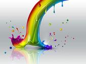 彩虹的末端 — 图库照片