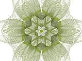 Abstrakt grön blomma — Stockfoto