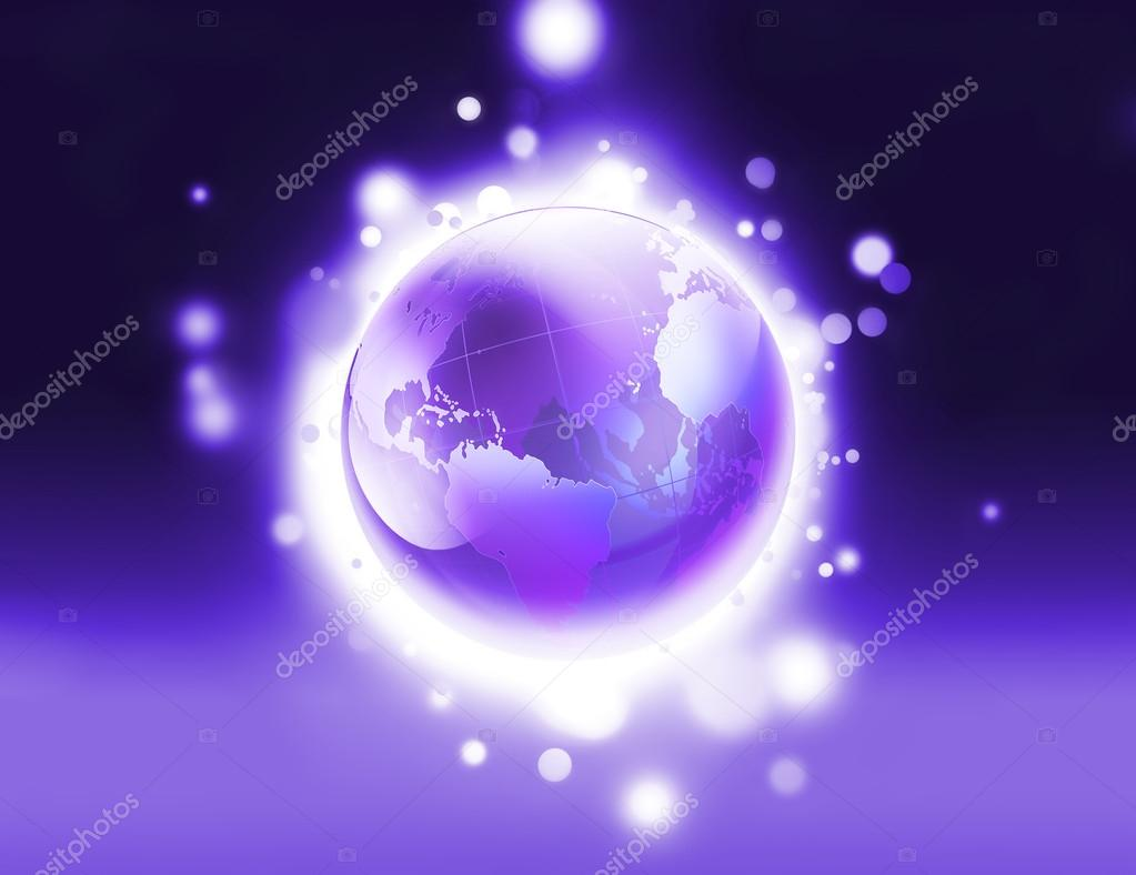 Abstract background with shiny purple world — Stock Photo #14726129