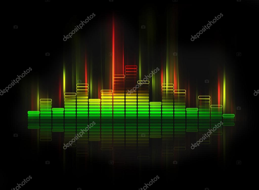 Glowing equalizer on black background  Stock Photo #14726163