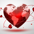 Stock Photo: Planet of love