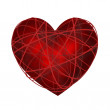 Striped red heart — Stock Photo