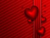 赤い背景のロマンチックです — ストック写真