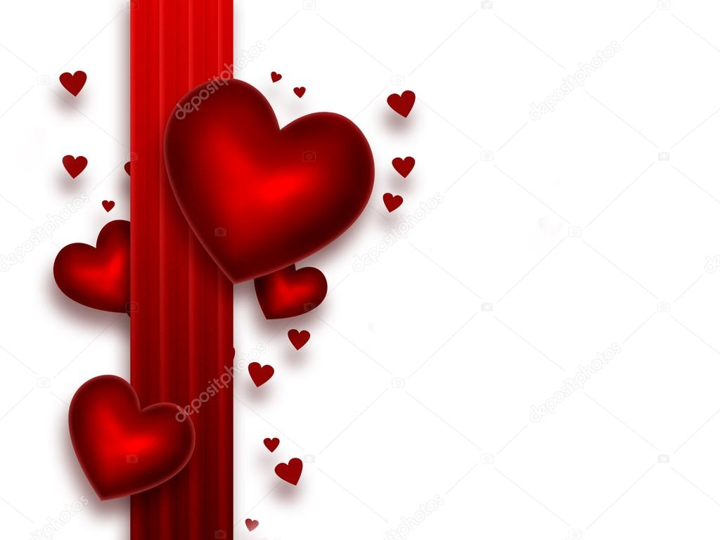 Romantic background with red hearts — Stock Photo #18674987