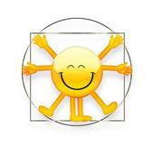 Vitruvian Emoticon — Stock Photo