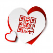 QR code - I love you — 图库照片