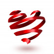 Ribbon heart — Stock Photo