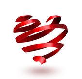 Ribbon heart — Stockfoto