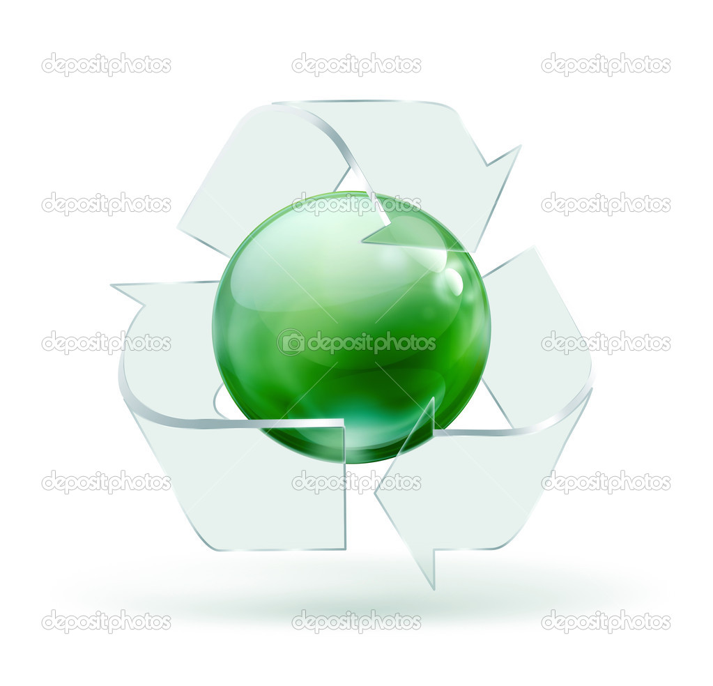 Recycle Glass Symbol Glass Recycling Symbol on