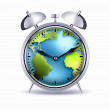 Stock Photo: Alarm clock world