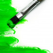 Stock Photo: Green paint