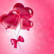 Hearts balloons — Stock Photo